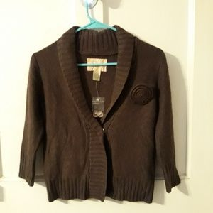 Fossil Cable Knit Sweater/Cardigan